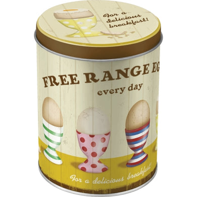 Free Range Eggs - Tin box