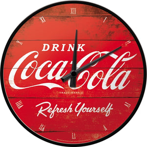Klukka - Coca Cola - Logo Red Refresh Yourself