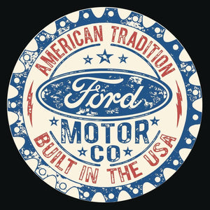 Ford - Built in USA - Round - 2396