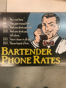 Bartender phone rates - 2145