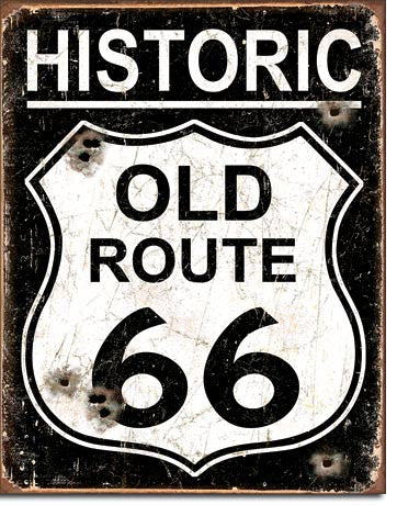 Old Route 66 - Weathered - 1938