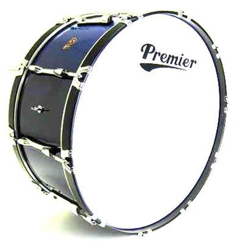 28 x 16 Premier Bass Drum, Choice Of Colors, Black/Red/Blue