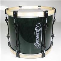 Andante 14x12 PRO Tenor Drum - Dark Green with Black Metalwork