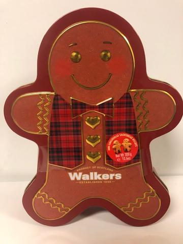 Scottish Walkers Shortbread Tin Gingerbread Man
