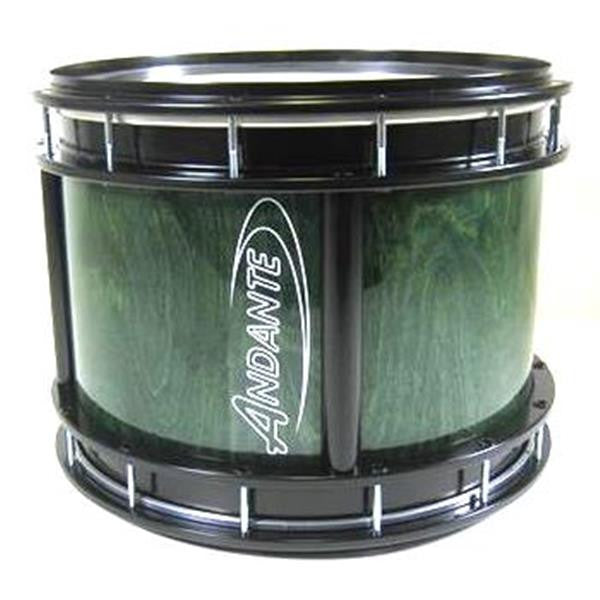 "Andante 15""x14"" Tenor Drum - Dark Green with Black Metalwork"