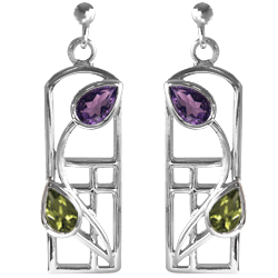 "Charles Rennie Mackintosh earrings ""Thistle"""