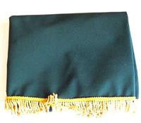 Green Economy Cover with Gold Fringe