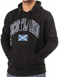 Black Saltire Hooded Top