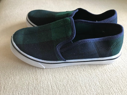 Black Watch Tartan Slip On Shoes