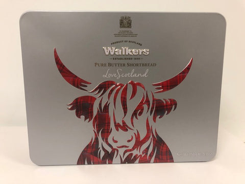 Scottish Walkers Highland Coo Shortbread Tin