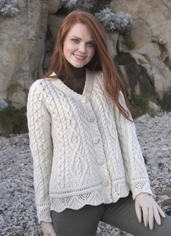Lace effect cardigan