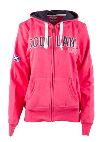 Ladies Scotland Hooded Zipped Sweater