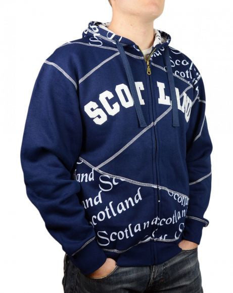 Scotland Zip Hooded Top