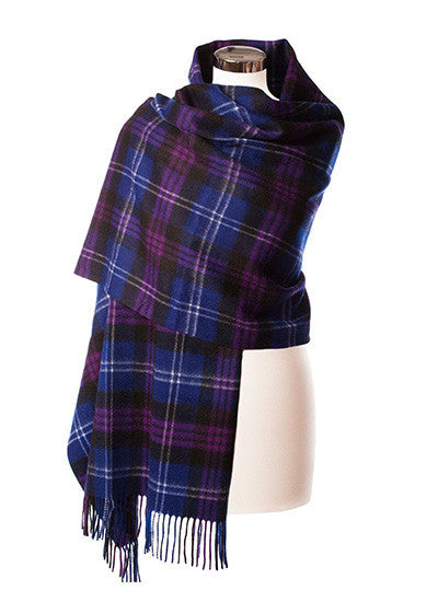 Scottish Tartan Lambswool Stole, Heritage of Scotland