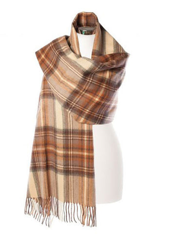 Tartan Stole, Stewart Natural Dress