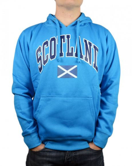 Scotland Saltire Hooded Top, Sapphire Blue