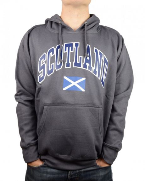 Scotland Saltire Hooded Top, Charcoal