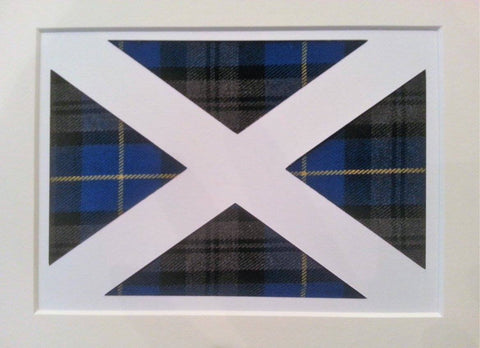 Clan Tartan Saltire Artwork
