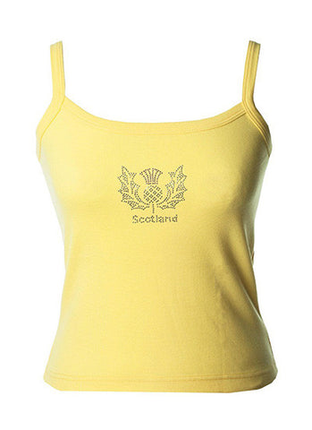 Ladies Yellow Thistle Strappy Top