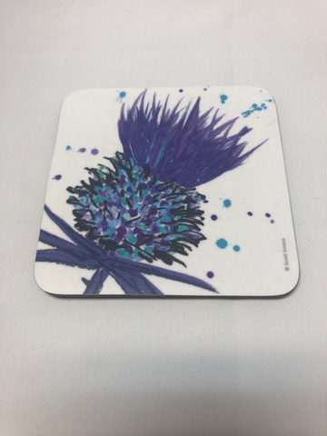 Scottish Thistle Cup Coaster