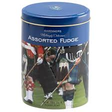 Gardiners Assorted Fudge Bagpipers Tin 200g