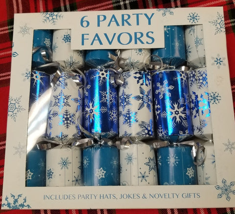 6 Party Favors Christmas Crackers