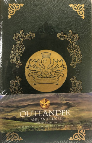 Outlander Jamie & Claire Notebook Collection Set of Two