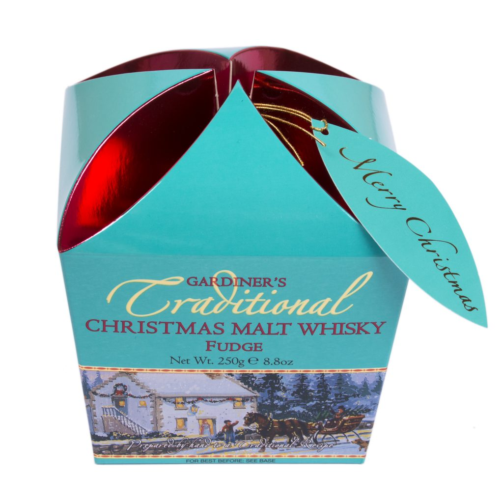Christmas Malt Whisky Fudge Carton