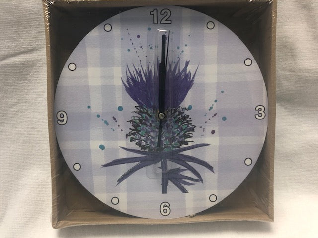 Scottish Thistle Clock