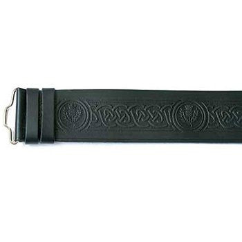 Celtic Thistle Hide Velcro Belt