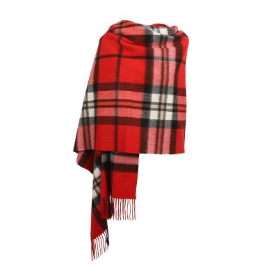 Scottish Tartan Lambswool Stole/Shawl - Thomson Red