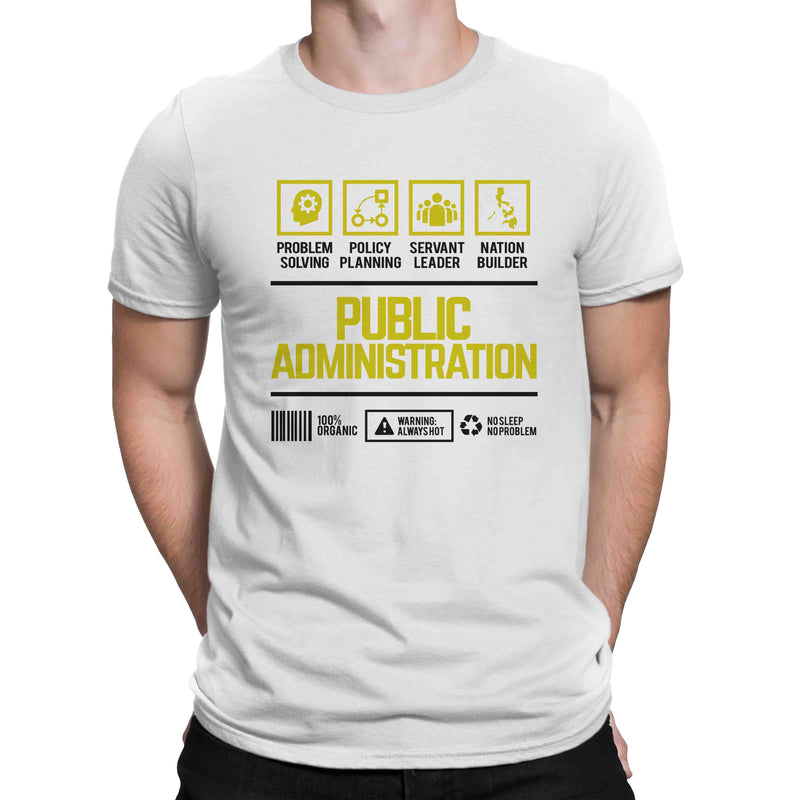 Course Shirt Public Administration Men Women's T-shirt on sale