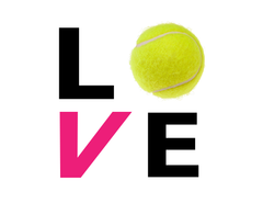 love tennis car decal