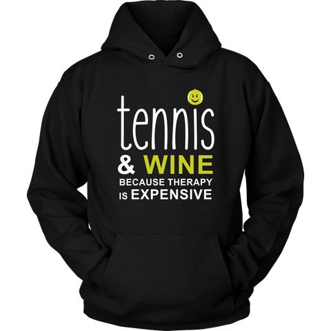 Tennis and Wine Hoodie