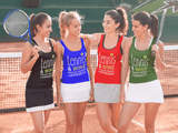 Tennis and Wine - Ladies Racer Back Tank Top