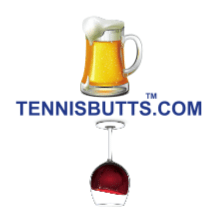Beer or Wine Tennis Butt Decal