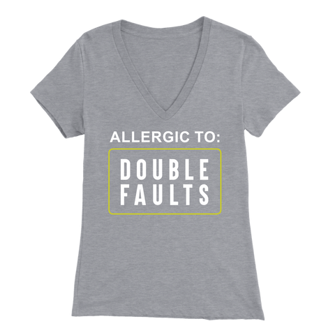 Allergic To Double Faults - BELLA WOMENS V-NECK TENNIS T-SHIRT