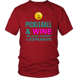 Pickleball and Wine - Unisex T-Shirt