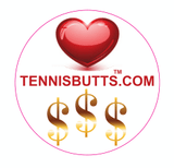 Love or Money Tennis Butt Decal
