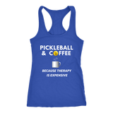 Pickleball and Coffee - Ladies Racerback Tank Top