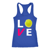LOVE Tennis Racerback Tank Top