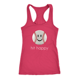 Hit Happy Baseball Racerback Tank Top