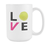LOVE Tennis Large Coffee Mug