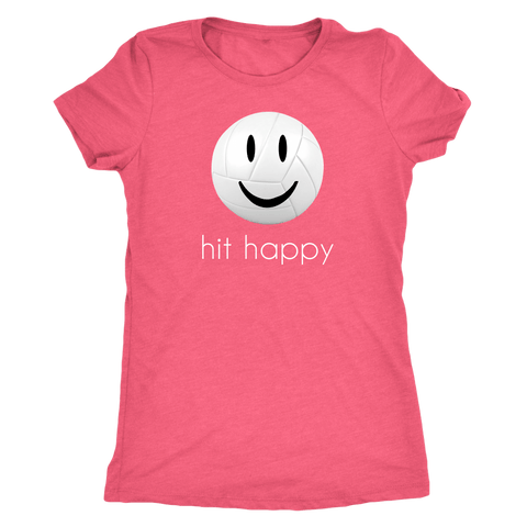 Hit Happy Volleyball Womens Triblend Shirt
