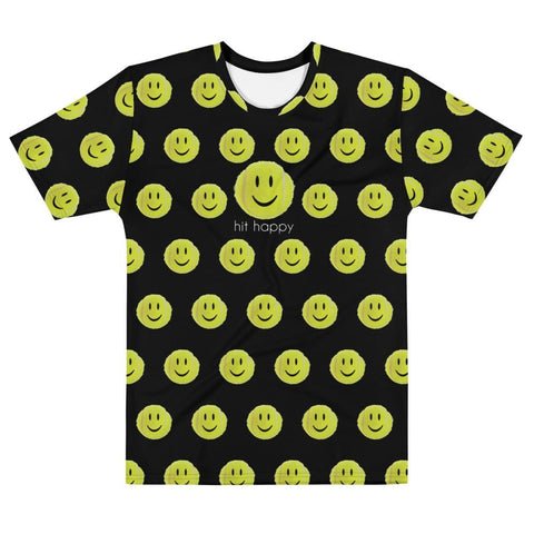Hit Happy All Over Print - Men's Black T-shirt