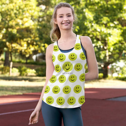 Hit Happy All Over - Women's Racerback Tank