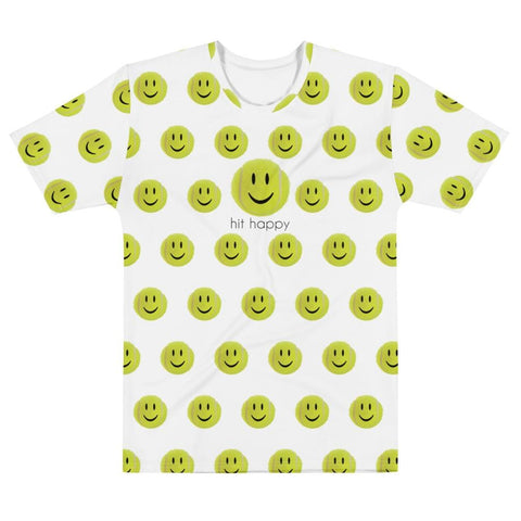 Hit Happy All Over Print - Men's White T-shirt