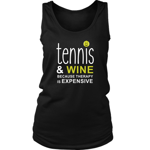 Tennis and Wine Ladies Tank Top