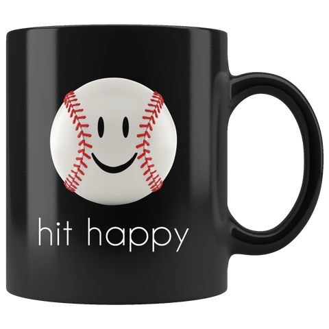 Hit Happy Baseball Coffee Mug