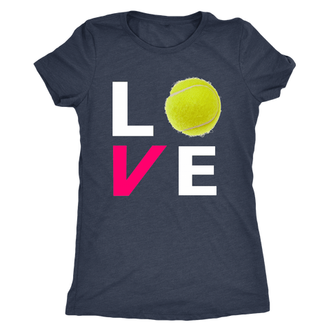 LOVE Tennis - Ladies Next Level Triblend Shirt